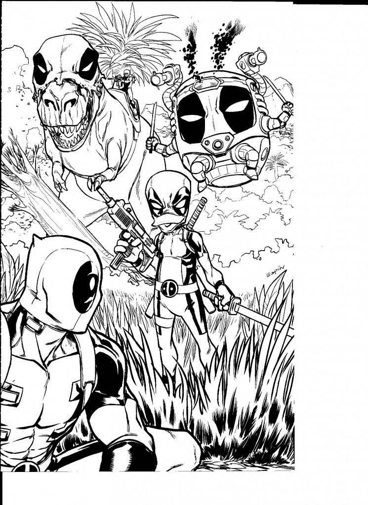 Deadpool Coloring Pages: Deadpool Colouring Contest