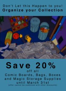 Comic Supplies Sale